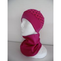 Čepice bez kšiltu se širokým nápletem