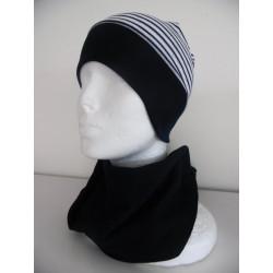 Čepice bez kšiltu s širokým nápletem